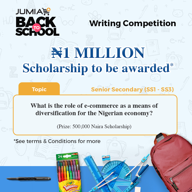 Jumia Back to School Writing Competition Scholarship